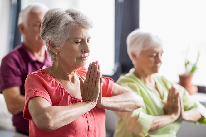 Йога для здоровья пенсионеров